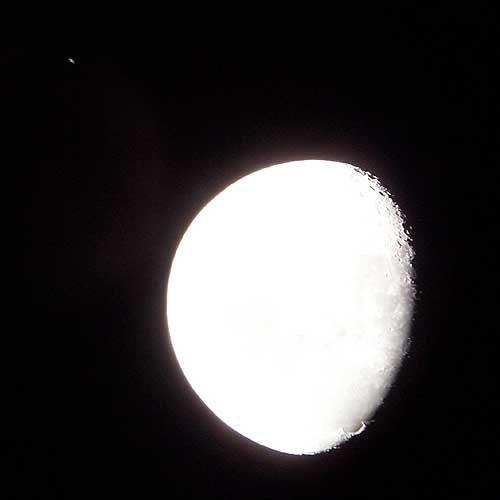 Moon & Saturn in Perspective