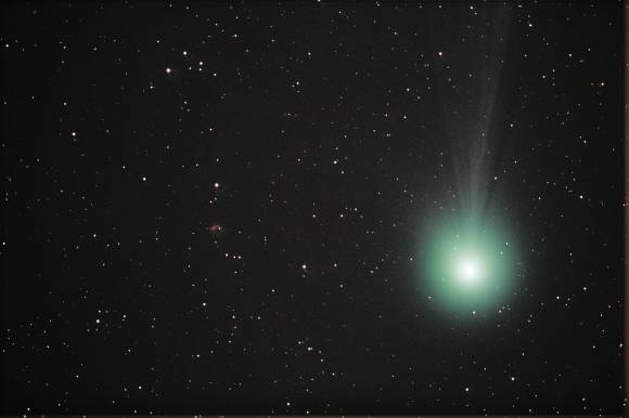 Comet Lovejoy and NGC 1156